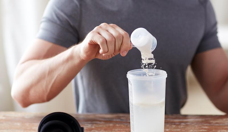Man Making Creatine Drink
